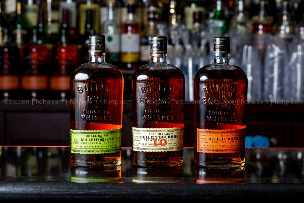 Product Photography of Whiskey Bottles